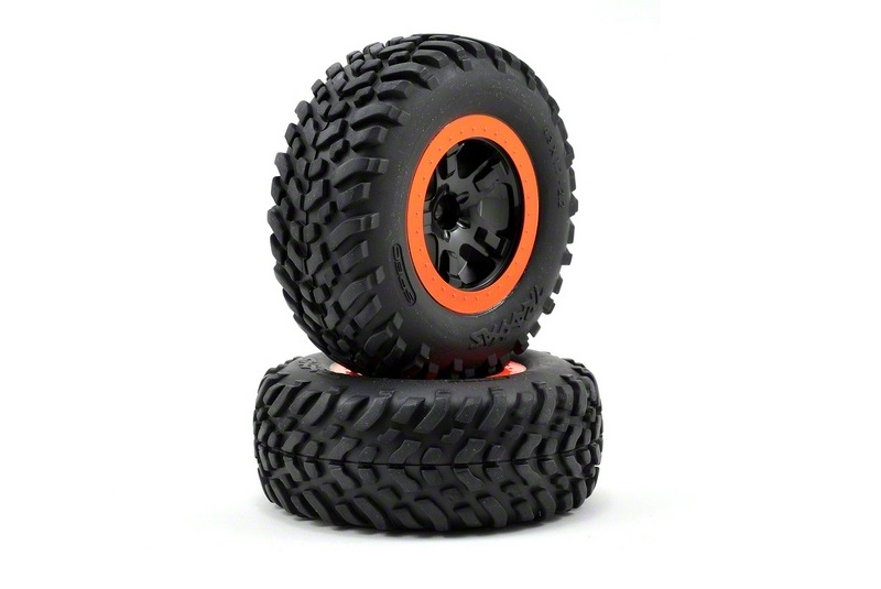 Traxxas 2WD Short Course Tires/Wheels Assembled (2)