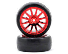 Traxxas Tires/Wheels Assembled/Glued 12-Spoke Red (2)