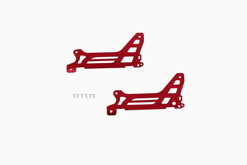 Traxxas Main Frame/Side Plate/Outer Red DR-1 (2)