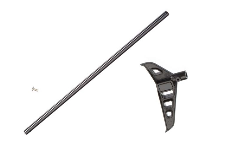 Traxxas Tail Boom Black-Anodized/Tail Fin/Screw DR-1