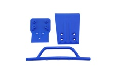 Slash 4x4 Front Bumper & Skid Plate - Blue
