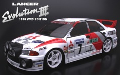 Кузов 1/10 - MITSUBISHI LANCER EVOLUTION III, Rally ver.