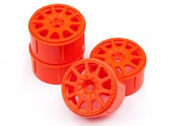 ����� 1/18 - MICRO RALLY WHEEL 17�� ORANGE (4��)