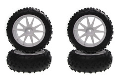 High Traction Tire With Wheel(White/Mini