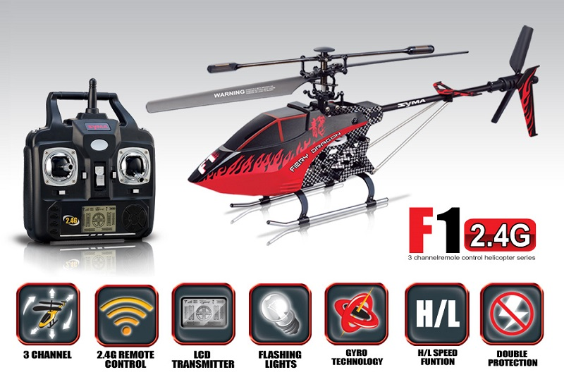 SYMA F1 3CH helicopter with GYRO