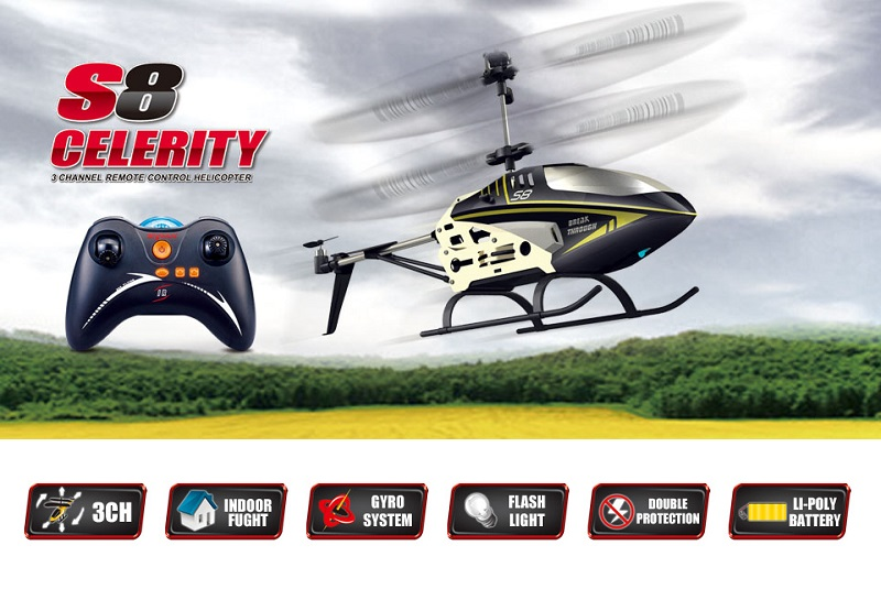 SYMA S8 3CH helicopter with GYRO
