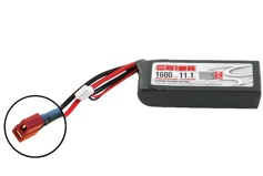 Team Orion Li-Po 11.1V (3S) 1600mah 50C SoftCase Deans plug with LED charge status