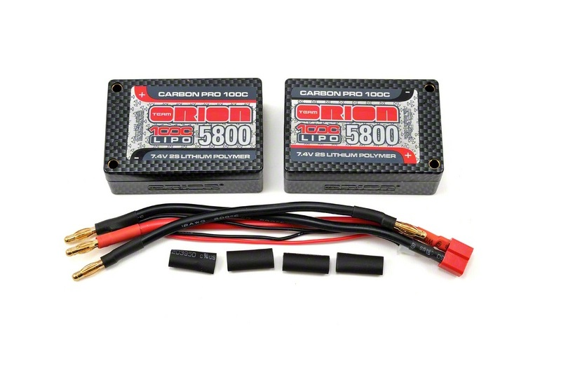 Carbon Pro Team Orion LiPo 7,4В(2s) 5800mAh 100C Saddle Pack Tubes