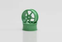 Wheel(6-Spoke/Green/24mm)