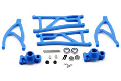 True-Track Rear A-Arm Conversion, Blue: Revo