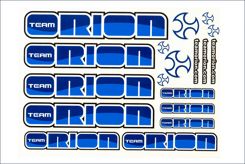 Team Orion Sticker Sheet blue/blue