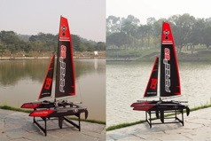 Force2 65 Twin hull 660mm sailboat 2.4GHz RTR, MODE 2