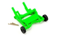 Wheelie bar, assembled (green) (fits Stampede, Rustler, Bandit series)