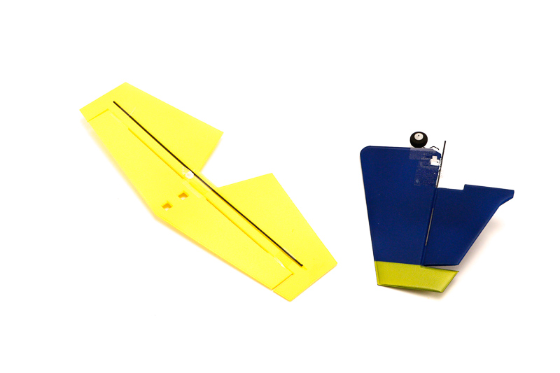 vertical and horizontal tail(Eage540 blue yellow)