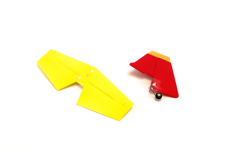 vertical and horizontal tail(Eage540 red yellow)
