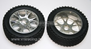 85927 Buggy Pre-mounted Tyres w/chromed rims