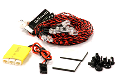 Complete 8 LED Light Kit w/ Control Box Module for Airplanes & Helicopter