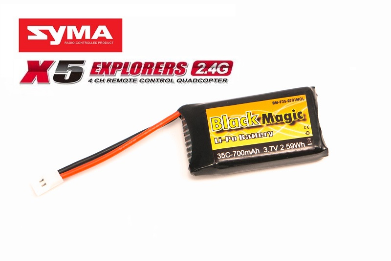 ����������� ��� ���������������� ������� Black Magic	LiPo 3,7�(1S) 700mAh 35C Soft Case JST-Molex plug (for Syma X5, X5C, X5SC, X5SW)