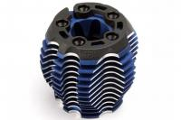 Cooling head, PowerTune (machined aluminum, blue-anodized) (TRX 3.3), head protector (1),  3x6mm CCS