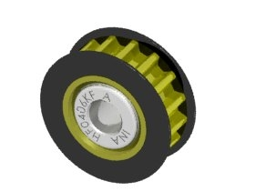 Aluminum Center One Way Pulley Gear T16