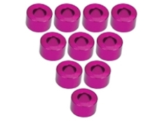 Aluminium M3 Flat Washer 3.5mm (10 Pcs) - Pink
