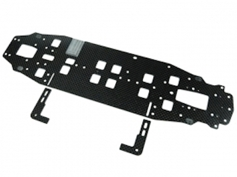 Graphite Main Chassis 2.25MM (Narrow) For 3racing Sakura Zero