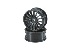 Wheel(15-Spoke/Black/24mm/2pcs)