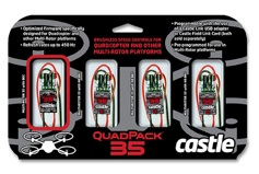 ����������� ��������� �������� Castle Creations QuadPack 35, 35AMP Multi-Rotor (4) Pack
