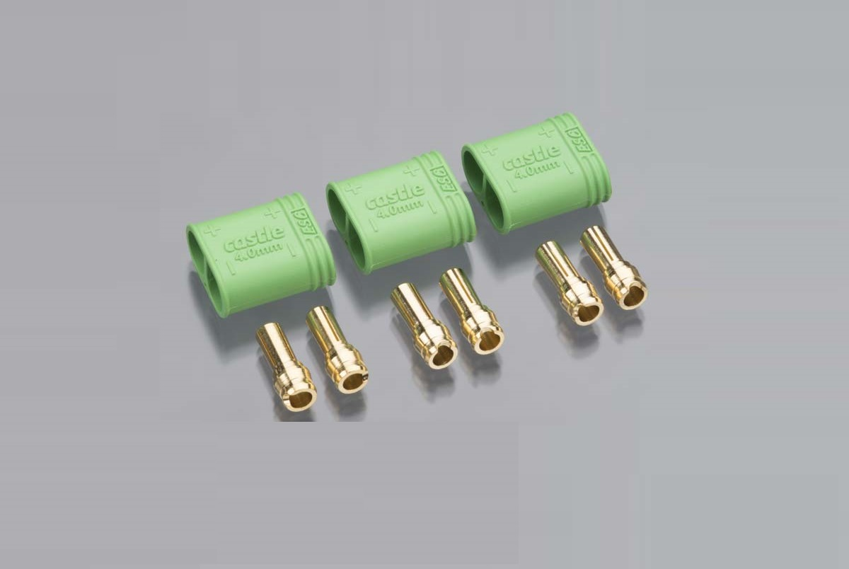 4.0mm Polarized Connectors-Male Multi-Pack