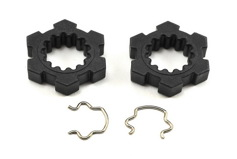 Wheel hubs, hex (2)/ hex clips (2)