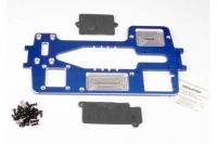 Chassis, 7075-T6 billet machined aluminum (4mm) (blue)/ hardware