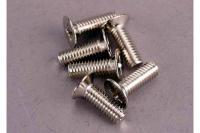 Screws, 4x12mm countersunk machine (100-degree) (6)