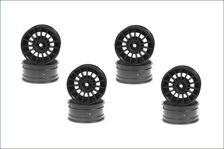 Aero 24 Wheel(15-Spoke) Black 8pcs