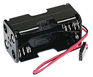 ������� ��� ������� - 4-Cell Battery Holder, with Futaba-style connector