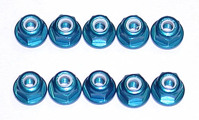 Гайки с фланцем - FT 3MM LOCKNUTS BLUE / 10шт