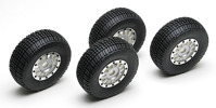 12 Spoke Wheel/Tire, silver, with foam and hardware, (4шт)