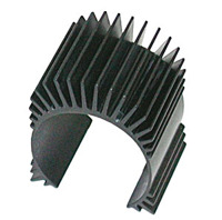 TC4 Motor Heatsink, black aluminum