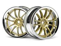 ����� 1/10 - WORK XSA 02C 26mm CHROME/GOLD (3mm OFFSET) 2��