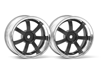 ����� 1/10 - RAYS GRAM LIGHTS 57S-PRO CHROME/BLACK (3�� OFFSET)