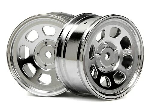 Диски 1/10 STOCK CAR  26MM CHROME (вынос 1MM ) 2шт