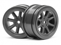 Диски 1/10 - VINTAGE 8 SPOKE 26mm (GUNMETAL/ вынос 0mm) 2шт