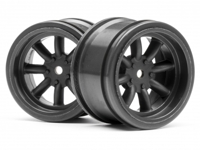 Диски 1/10 - VINTAGE 8 SPOKE 31mm GUNMETAL (6mm OFFSET) 2шт