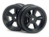 ����� 1/10 - VINTAGE 5 SPOKE WHEEL 26MM BLACK (0MM OFFSET)