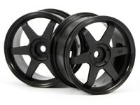 ����� 1/10 - TE37 WHEEL 26MM BLACK (0MM OFFSET)