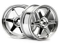 ����� 1/10 - TE37 WHEEL 26MM CHROME (0MM OFFSET)