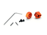 Адаптеры колесные - ALUMINUM HEX WHEEL HUB (ORANGE/2pcs)