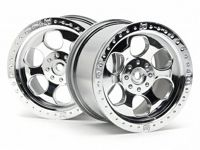 Диски колесные (Т-8) 6 SPOKE WHEEL SHINY CHROME (83X56MM/2PCS) HEX14