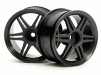 Диски 1/10 - (12 спиц CORSA BLACK 26MM / вынос 3MM) 2шт