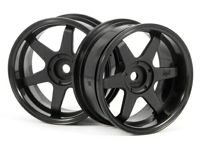 ����� 1/10 - TE37 WHEEL 26MM BLACK (6MM OFFSET) 2��