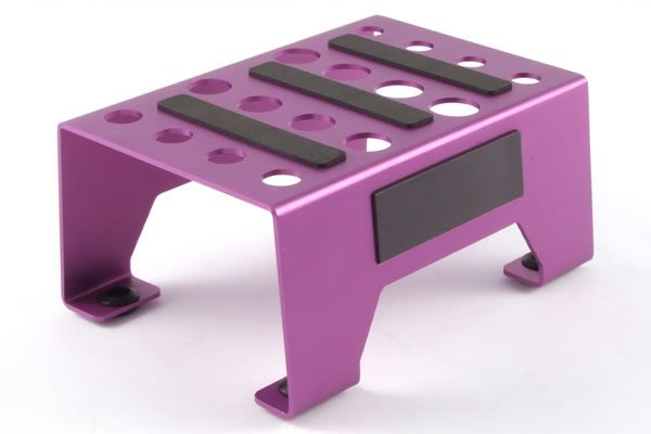 Стенд для ремонта - Aluminium Pit Stand with Magnetic Strip - Purple